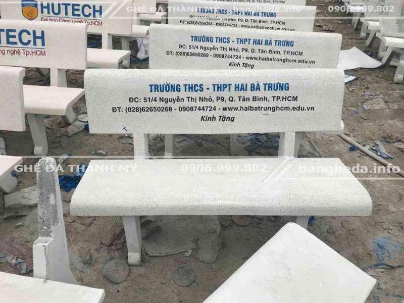 bàn ghế đá trường học 1