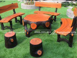 mua Bán bộ bàn ghế đá giả gỗ tphcm
