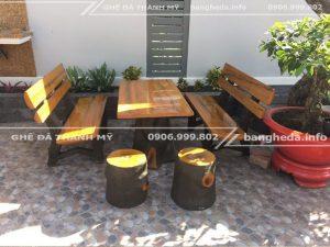 chuyên bán các bàn ghế đá giả gỗ quận 1