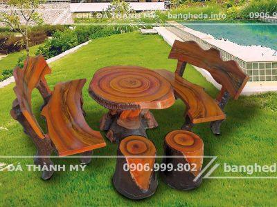 bán bàn ghế đá giả gỗ uy tín chất lượng tại tphcm