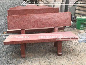 Ghế đá sân vườn màu đỏ chất lượng cao