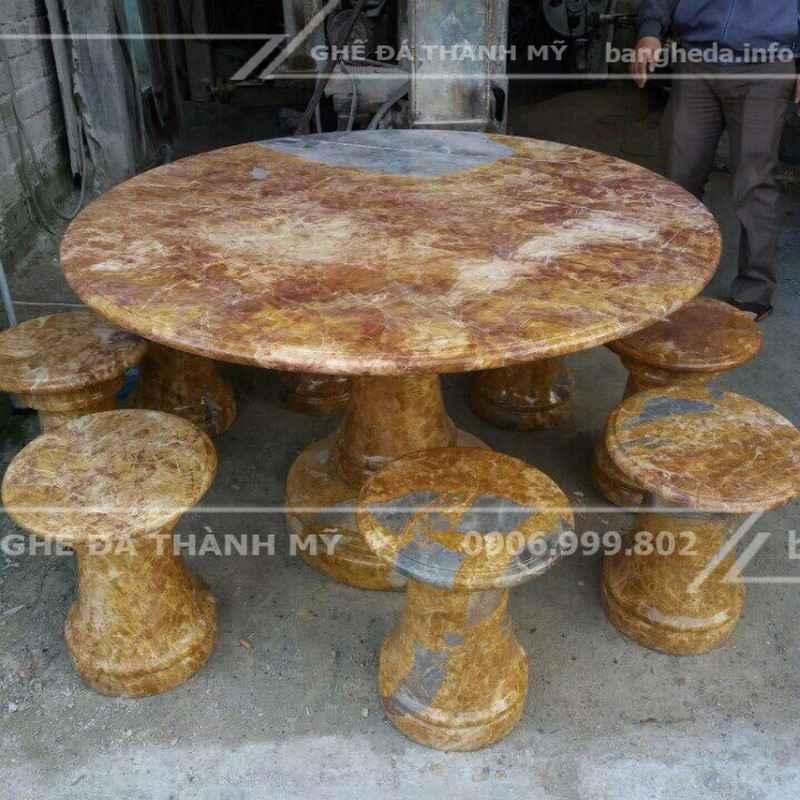 bàn ghế đá tự nhiên cao cấp 1