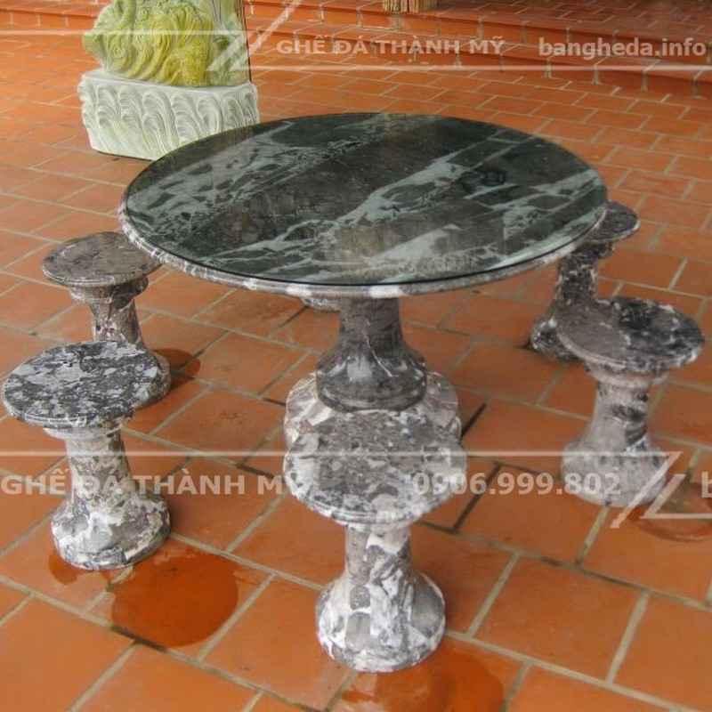 bàn ghế đá tự nhiên đẹp vĩnh long 1
