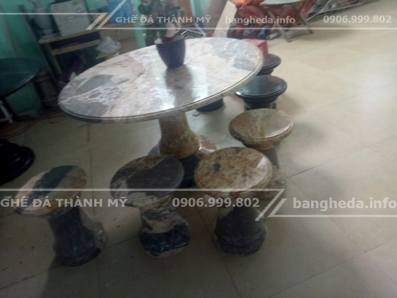 bàn ghế đá tự nhiên đẹp vĩnh long 2