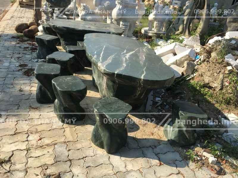 bàn ghế đá tự nhiên đẹp vĩnh long 3